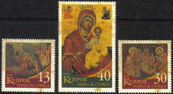 Cyprus Stamps SG 1102-04 2005 Christmas Icons - MINT