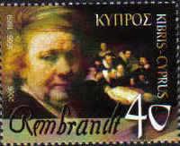 Cyprus Stamps SG 1107 2006 Rembrandt artist - MINT