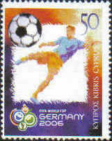 Cyprus Stamps SG 1108 2006 World Cup football Germany - MINT