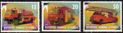 Cyprus Stamps SG 1116-18 2006 Fire engines - MINT