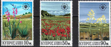 Cyprus Stamps SG 348-50 1970 Flowers - MINT