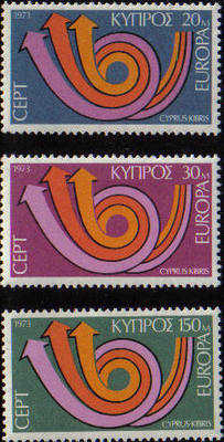Cyprus stamps SG 403-05 1973 Europa Posthorn - MINT