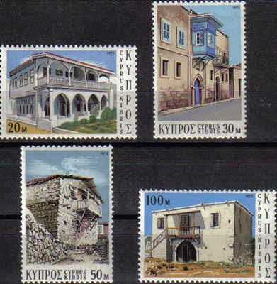 Cyprus Stamps SG 406-09 1973 Traditional Architecture - MINT
