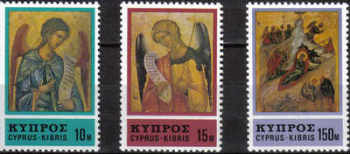 Cyprus Stamps SG 478-80 1976 Christmas Icons - MINT