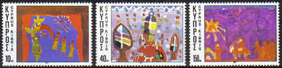 Cyprus Stamps SG 497-99 1977 Christmas - MINT