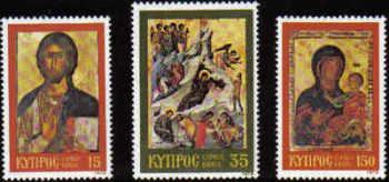 Cyprus Stamps SG 533-35 1979 Christmas Icons - MINT