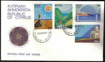 Cyprus Stamps SG 378-81 1971 Tourism - Official FDC