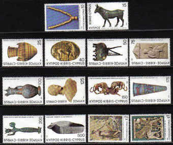 Cyprus Stamps SG 545-58 1980 5th Definitives Antiquities - MINT
