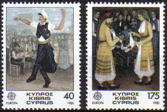 Cyprus Stamps SG 567-68 1981 Europa folk dances - MINT