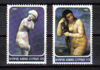 Cyprus Stamps SG 584-85 1982 Aphrodite - MINT