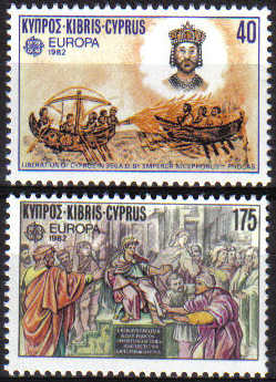 Cyprus Stamps SG 586-87 1982 Europa Historical Events - MINT