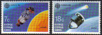 Cyprus Stamps SG 798-99 1991 Europa Space - MINT