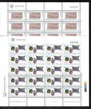 Cyprus Stamps SG 602-03 1983 Europa - Full sheets MINT (p259)