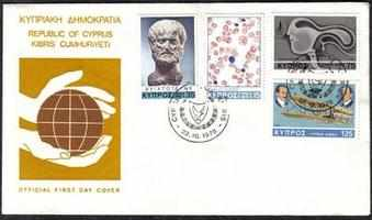 cyprus Stamps SG 511-14 1978 Anniversaries and Events - Official FDC (a90)