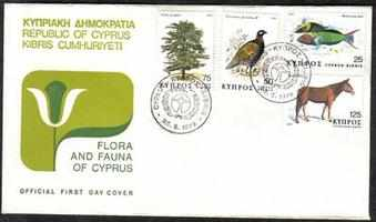 Cyprus Stamps SG 523-26 1979 Flora and Fauna - Official FDC