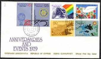Cyprus Stamps SG 527-32 1979 Anniversaries and events - Official FDC (a92)