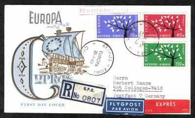 Cyprus Stamps SG 224-26 1963 Europa Tree - Unofficial FDC (a112)