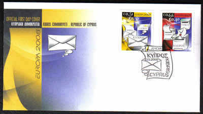 Cyprus Stamps SG 1162-63 2008 Europa The Letter - Official FDC (F177)
