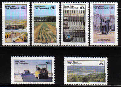 NORTH CYPRUS STAMPS SG 258-63 1989 MODERN DEVELOPMENT 3rd SERIES - MINT