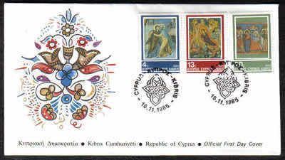 Cyprus Stamps SG 670-72 1985 Christmas - Official FDC (a171)