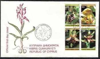 Cyprus Stamps SG 572-75 1981 Orchids - Official FDC