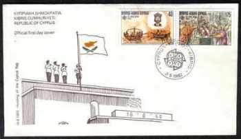 Cyprus Stamps SG 586-87 1982 Europa Historical Events - Official FDC (a104)