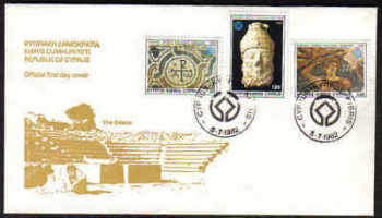 Cyprus Stamps SG 588-90 1982 World cultural heritage - Official FDC (a105)