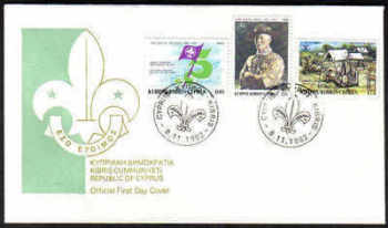 Cyprus Stamps SG 592-94 1982 75th Anniversary of Scout Movement - Official FDC (a106)