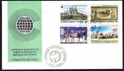 CYPRUS STAMPS SG 598-01 1983 COMMONWEALTH DAY - OFFICIAL FDC (a108)