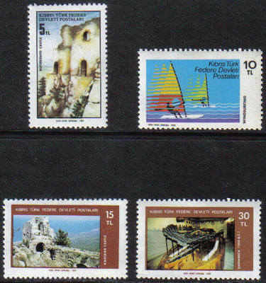 North Cyprus Stamps SG 123-26 1982 Tourism - MINT