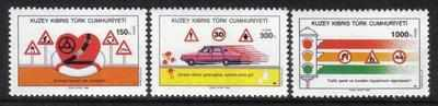 North Cyprus Stamps SG 289-91 1990 Road Safty - MINT
