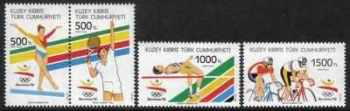 North Cyprus Stamps SG 336-39 1992 Barcelona Olympic games - MINT