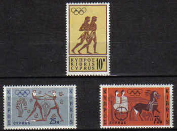 Cyprus Stamps SG 246-48 1964 Tokyo Olympic Games - MINT
