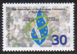 Cyprus Stamps SG 1004 2000 Human Rights 50th Anniversary - MINT