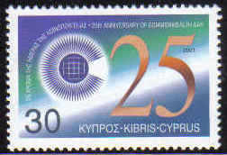 Cyprus Stamps SG 1012 2001 Commonwealth day - MINT