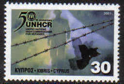 CYPRUS STAMPS SG 1013 2001 UNHCR REFUGEES - MINT