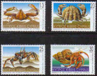 Cyprus Stamps SG 1017-20 2001 Crabs of Cyprus - MINT