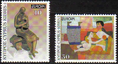 Cyprus Stamps SG 831-32 1993 Europa Contemporary Art - MINT