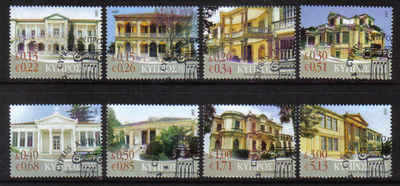 CYPRUS STAMPS SG 1145-52 2007 10th DEFINITIVES BUILDINGS - USED (a477)