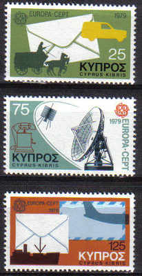 Cyprus Stamps SG 520-22 1979 Europa communications - MINT