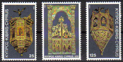 Cyprus Stamps SG 564-66 1980 Christmas Churches - MINT