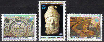 Cyprus Stamps SG 588-90 1982 World cultural heritage - MINT