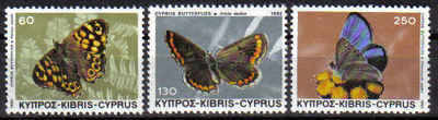 Cyprus Stamps SG 604-06 1983 Butterflies - MINT