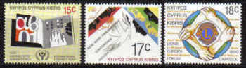 Cyprus Stamps SG 771-73 1990 Anniversaries and events - MINT