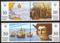 Cyprus Stamps SG 818-21 1992 Europa Discovery of America by Columbus - MINT