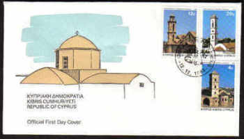 Cyprus Stamps SG 625-27 1983 Christmas - Official FDC (a179)