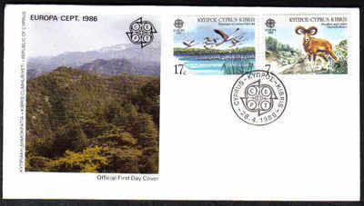 Cyprus Stamps SG 678-79 1986 Europa Environmental Protection - Official FDC