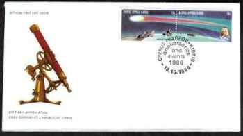 Cyprus Stamps SG 687-88 1986 Halleys Comet - Official FDC