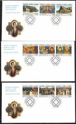 Cyprus Stamps SG 695-703 1987 Churches - Official FDC