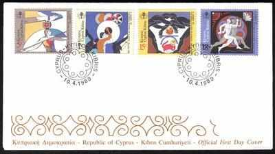 Cyprus Stamps SG 735-38 1989 3rd European Small states games - Official FDC